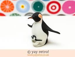 porcelain penguin ornament vintage shop retro china glassware