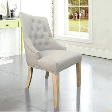 beige back dining chair with copper nails set of 2 dwc