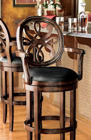 furniture unique modern swivel bar stools with black backs and
