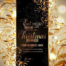 happy new year invitation christmas party happy new year invitation with gold vinage branch
