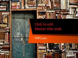 Free Bookshelves Free Bookshelf Powerpoint Template Free Powerpoint Templates