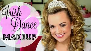 hairstyles for an irish dancing feis irish dance makeup tutorial faces by cait b youtube
