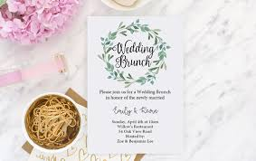 post wedding brunch invitation wedding brunch invitation green brunch invite post wedding