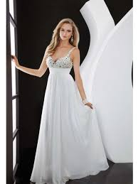 formal maternity dresses empire spaghetti straps v neck white prom evening formal