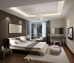 Modern Bedroom Chandeliers Alluring Modern Bedroom With Comfy Bed Under Artistic Painting And