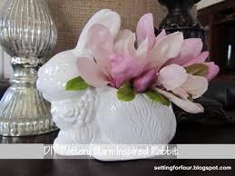 Diy Spring Projects by Easy Diy Pottery Barn Inspired Rabbit Setting For Four