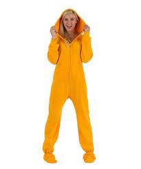 footed pajamas orange hooded footie pajamas zulily