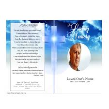 Template For A Funeral Program Cross Single Fold Funeral Program Funeral Pamphlets