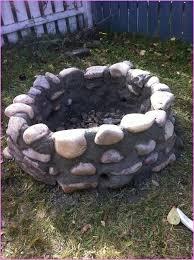 Firepit Rock River Rock Pit Home Design Ideas