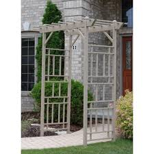 Arbor Trellis Plans Garden Garden Arbor With Gate For Fantastic Outdoor Trellis