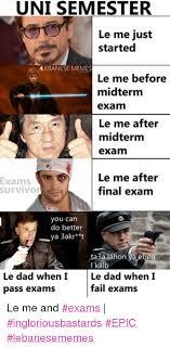 Le Me Memes - uni semester le me just started alebanese memes le me before