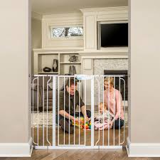 Extra Wide Pressure Fit Safety Gate Amazon Com Regalo Extra Tall Widespan Gate White Indoor