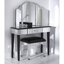 Venetian Mirrored Console Table Carrollton Console Table Silver And Black Mirrored Console Table
