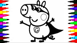 coloring pages peppa pig charlie the george pig compilation