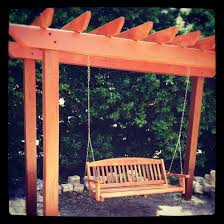 backyard pergola with swing white vinyl with nags head hammock