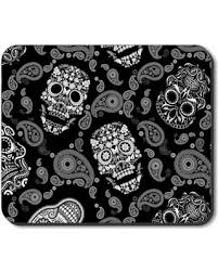 sugar skulls for sale check out these bargains on plates mouse pad white sugar skulls