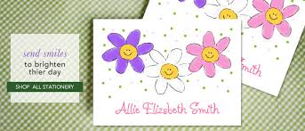 personalized stationary kids stationery and personalized thank you notes