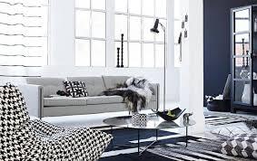 schwarz weiß wohnzimmer design trend wohnen in schwarz weiß schöner wohnen