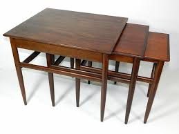 pottery barn nesting tables mid century modern nesting tables regarding stacking end tables plan