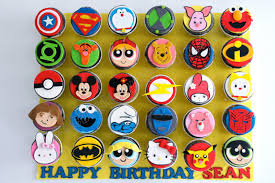 celebrate with cake cartoon character cupcakes