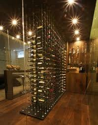 R Wine Cellar - contemporary custom wine cellar featuring the cable wine system
