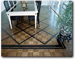 Faux Painted Floors - geometric designs hand painted inlays on wood floors geometric