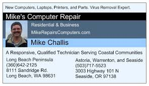 Business Cards Long Beach Mike U0027s Computer Repair Computers 8111 Sandridge Rd Long Beach