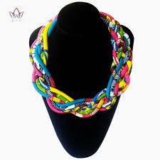 bib necklace aliexpress images 2017 african wax print colorful necklace ankara hnadmade knot jpg