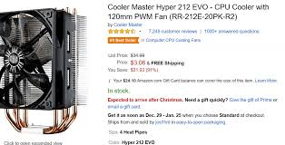 amazon black friday corsair lux us cooler master hyper 212 evo cpu cooler 2 99 on amazon