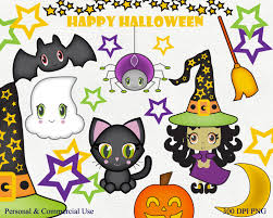 cute halloween clipart commercial use clip art bat witch hat