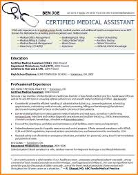 Certified Medical Assistant Resume Samples by Sample Of Medical Assistant Resume Medical Resume Template