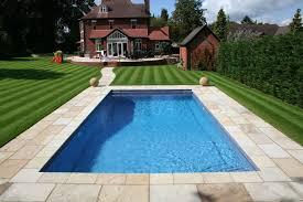 Backyard Plus Swimming Pool Beutiful Backyard Landscaping Ideas With Rectangle