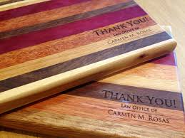Handmade Wooden Gifts - thank you gifts mac cutting boards