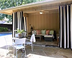 Black Outdoor Curtains Modern Porch Design Ideas With Black White Striped Drapes Patio