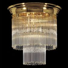 Art Deco Ceiling Light Fixtures Kolarz Art Deco Crystal Ceiling Light Chrome C892 17 40 Free Delivery