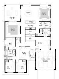 One And A Half Story House Floor Plans 3 Bedroom Flat Plan View One Story Modern House Plans Bath And