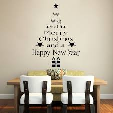 merry christmas new year decoration tree wall stickers window merry christmas amp new year decoration tree wall