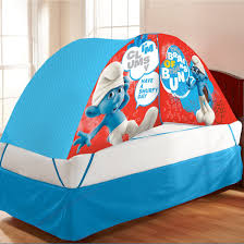 amazon com smurfs bed tent with pushlight toys u0026 games