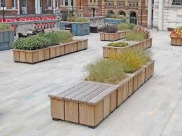 Planter Bench Seat Bench London Planters Furnitubes Urban Landscaping Pinterest
