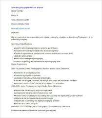 Advertising Resumes 9 Photographer Resumes Free Sample Example Format Free