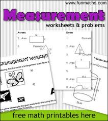 measurement worksheets u0026 problems free fun high math