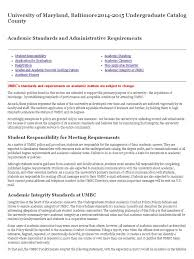 academic standards and administrative requirements university of