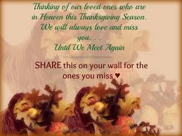 loved ones in heaven in memory thanksgiving happy thanksgiving