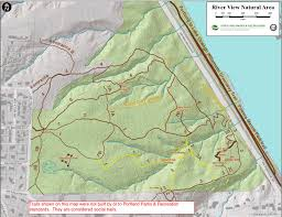 Portland Trails Map by River View Friends Hiking