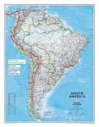 American Route Map by Worldtravellers Dk Blog Archive Route Map For South America