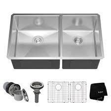 Double Bowl Kitchen Sinks Undermount Kitchen Sinks Stainless - Double bowl kitchen sink undermount