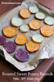 How To Cook A Sweet Potato In The Toaster Oven Roasted Sweet Potato Rounds Aip Friendly