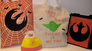 treat bags diy wars trick or treat bags starwars