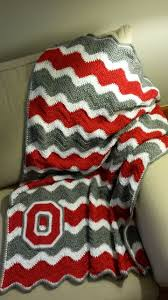 Ohio State Bathroom Accessories by Ohio State Buckeyes Crochet Afghan By Madebymawmaw On Etsy O H