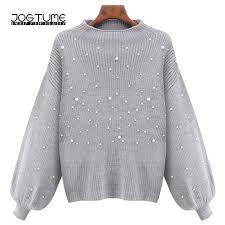 sweaters womens jogtume oversized pearl sweater womens winter autumn sleeve